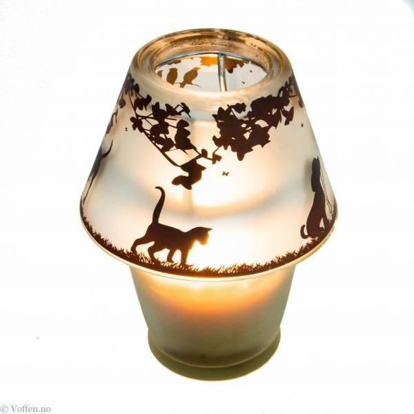 Bilde av HH Glasslampe m/stearinlys